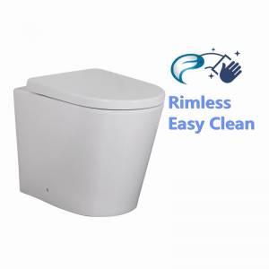 Avis Rimless Flushing Wall Faced Floor Toilet Pan WELS