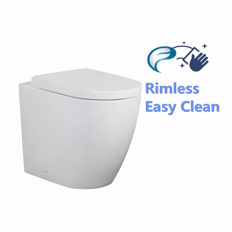 Elvera Rimless Flushing Wall Faced Floor Toilet Pan