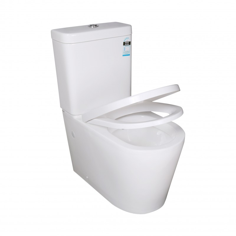 Ceramic White Box Rim Back To Wall Faced Toilet Suite