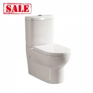 Modern Pola Ceramic White Box Rim Back To Wall Toilet Suite