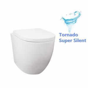 Veda Wall Faced Pan Tornado Flushing Floor Toilet Pan