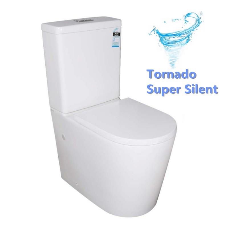 Vivid Tornado Back To Wall Ceramic Toilet Suite S TRAP P TRAP