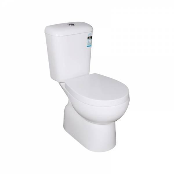 Zion Closed Couple Toilet Suite Ceramic White Box Rim